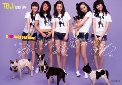 autographed Wonder Girls TBJ poster