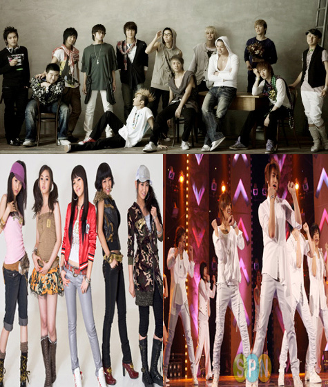 Super Junior, Wonder Girls, SS501