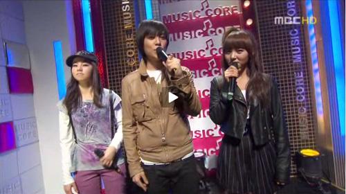 So Hee, T.O.P, Sun Ye @ Music Core 080405