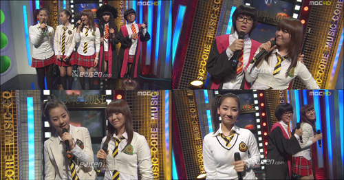 Wonder Girls @ Music Core 080412