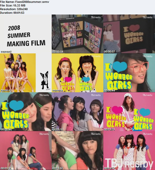 Making of Wonder Girls TBJ '08 Summer Photoshoot