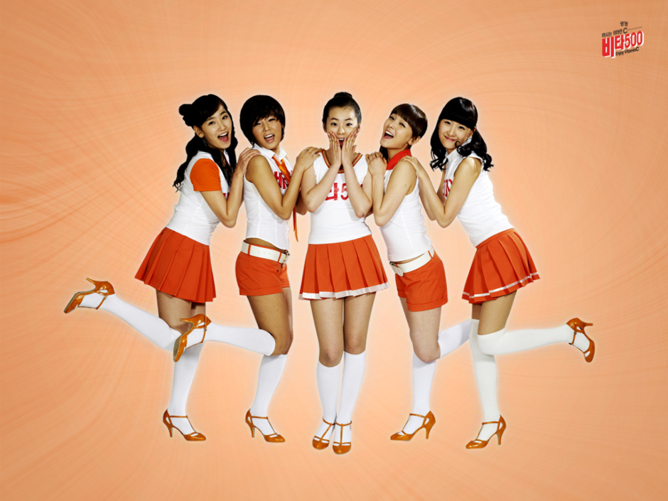 Vita 500 have released a wallpaper of the Wonder Girls for their CF.