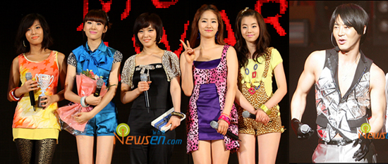 Wonder Girls and Junjin