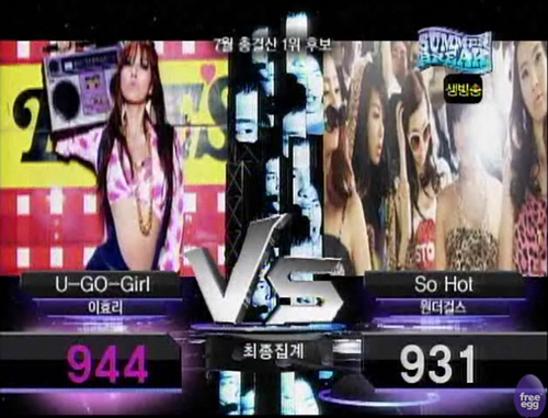 close but still losing to Hyori