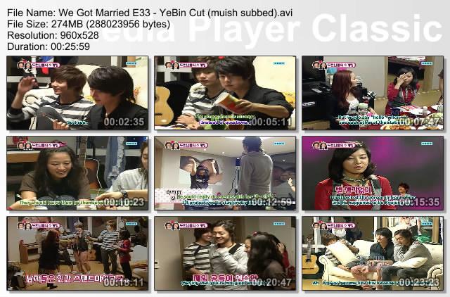 YeBin We Got Married Episode 33 Cut