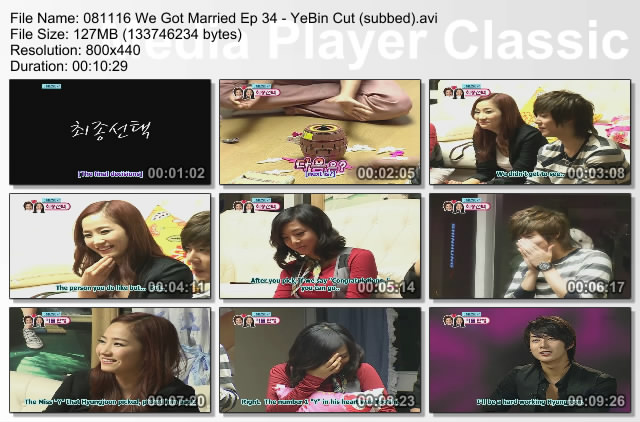 YeBin on We Got Married Episode 34