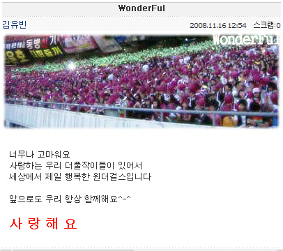 Yoo Bin Cyworld Entry 081116